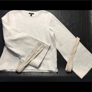 J. Crew Tops - J. Crew sweatshirt with bow tie bell sleeves